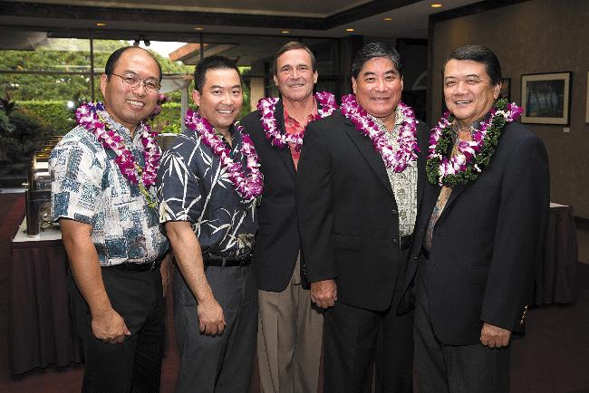 Jon Nakamoto, Brian Ishikawa, Spike Denis, Gervin Miyamoto and Gary Yanagihara.
