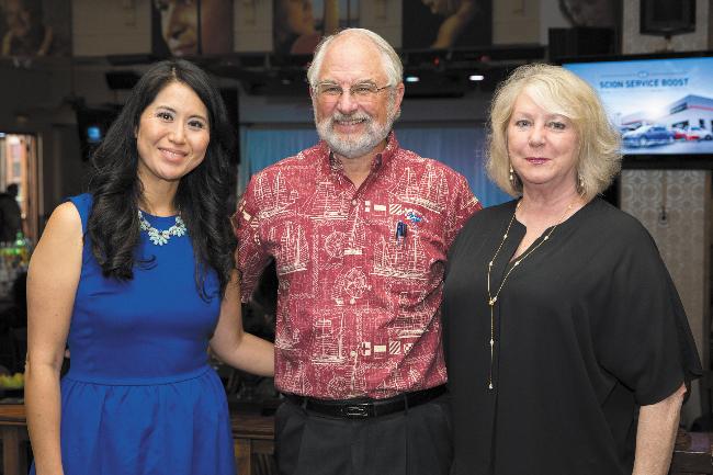Corinne Hiromoto, John Highan and Rachel Simmons.