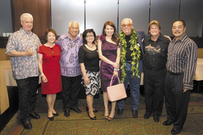 Zyron Schoniwitz, Linda Wong, Danny Kaleikini, Wendy Nagaishi, Qi Marie, John Michael White, Ben Dowling and David Nagaishi.