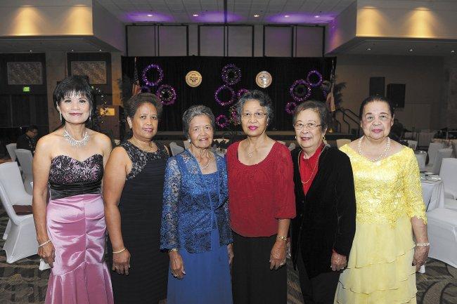 Norma Barroga, Lilia Pulido, Connie Pascua, Lydia Talavera, Dr.Belinda Aquino, Merit Ching