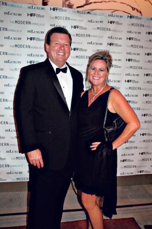 David Kennedy, HILuxury magazine president, with wife Fiona.