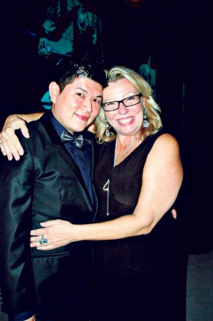 Brent Anbe with Georja Skinner, chief officer of Hawaii DBEDT Creative Industries Division.