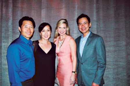 The Hawaii International Film Festival hosted its annual Oscar Experience: Honolulu at The Modern Honolulu. Among the guests were (at left) Daniel Dae Kim with wife Mia, Erika Kauffman and actor Joel de la Fuente, who recently starred in the one-man play Hold These Truths presented by Honolulu Theatre for Youth and Daniel Dae Kim.