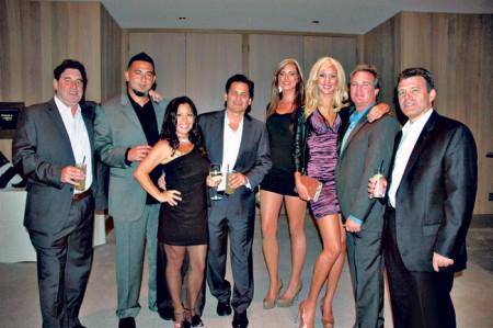 Ken Solarz, Chico Powell, Angela Laprete, Hawaii Five-O executive producer Peter Lenkov, Emilee Kedrofski, Alycia Browne, Bryan Spicer and Jeff Downer.