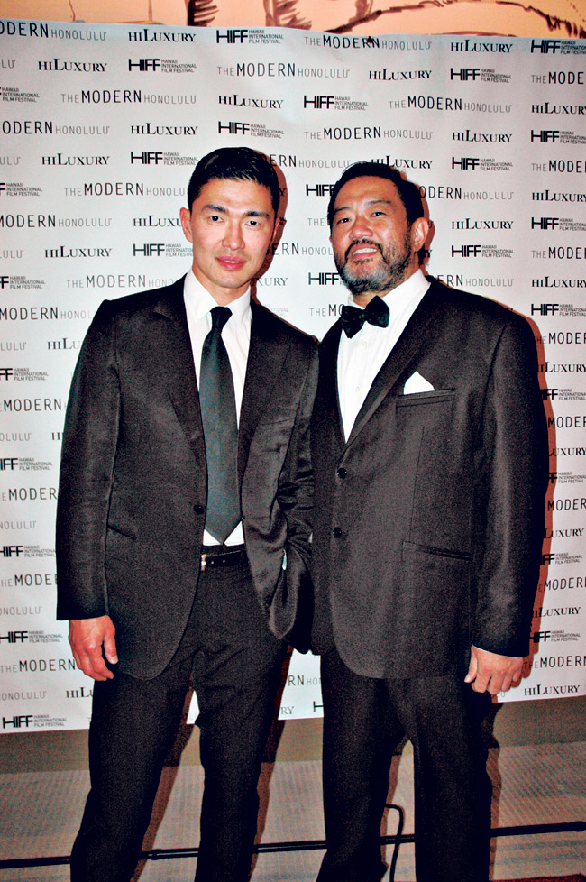 Actor Rick Yune with his cousin, Honolulu resident Brian Uy. Rick says he visits Hawaii all the time - 10 times a year, almost 20.