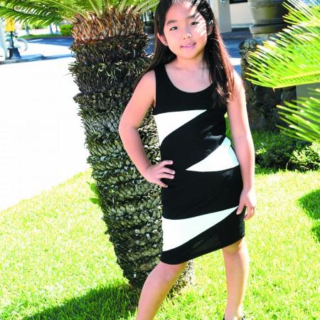 Mari Matsubara: Kiddo black and white colorblock dress $39