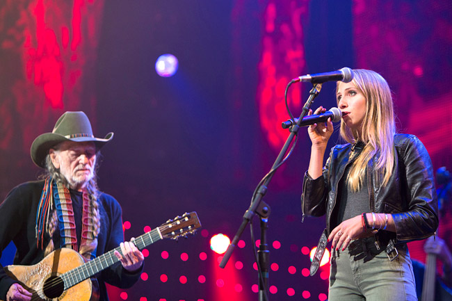 Meola performs with country music legend Willie Nelson | Courtesy photo