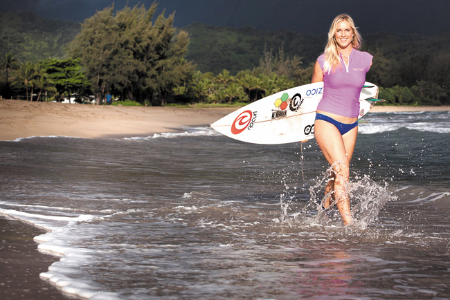 Bethany Hamilton is still surfing. Photo courtesy Mike Coots