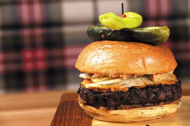 Pub 1842 Peanut butter crunch burger. Gary FX LaMorte photo