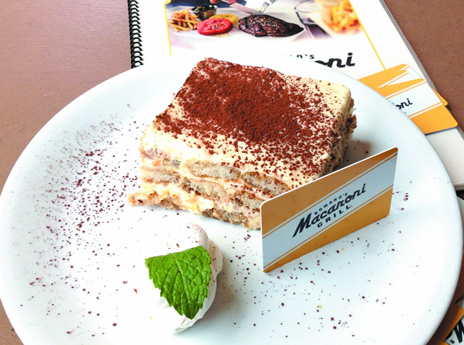 Spend $25 on gift cards at Macaroni Grill and get a $5 gift card for yourself. Dessert, anyone?