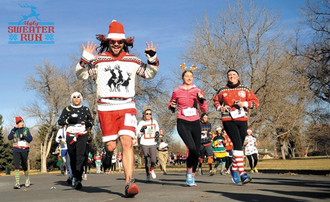 Put on your favorite 'ugly' sweater and run! | Photo courtesy The Ugly Sweater Run