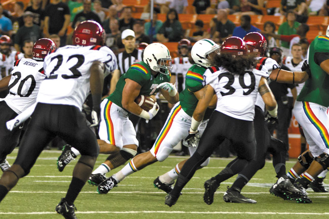 As losses mount and attendance dwindles, you have to ask: Why is Hawaii trying to play with the big boys? Anthony Consillio photo