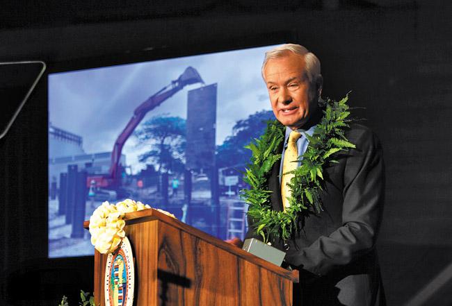 Mayor Kirk Caldwell delivered his State of the City speech last week Dennis Oda / Honolulu Star-Advertiser photo