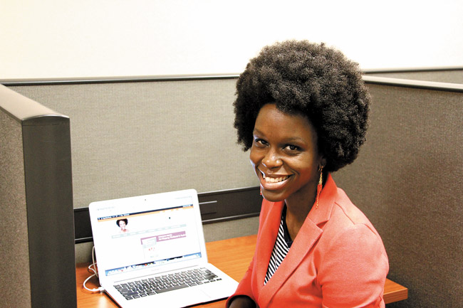 Rosetta Thurman conducts most of her business remotely from her coworking space in Honolulu | Christina O'Connor photo