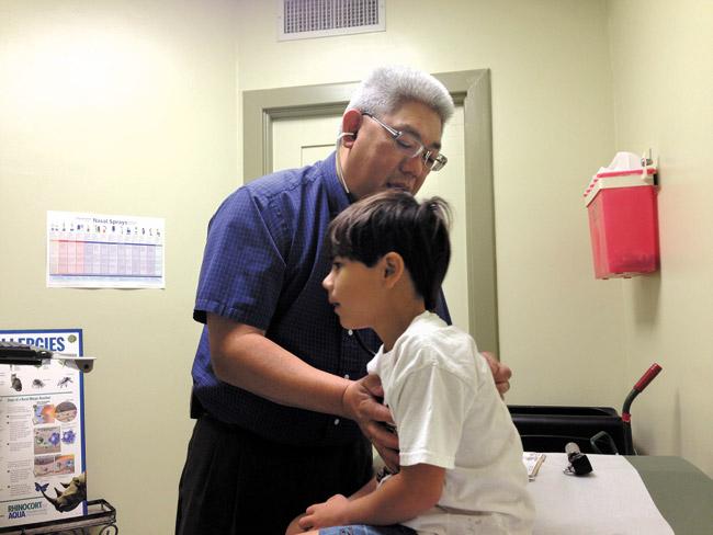 Kaimana with Dr. Jeffrey Kam. Photo from Tannya Joaquin