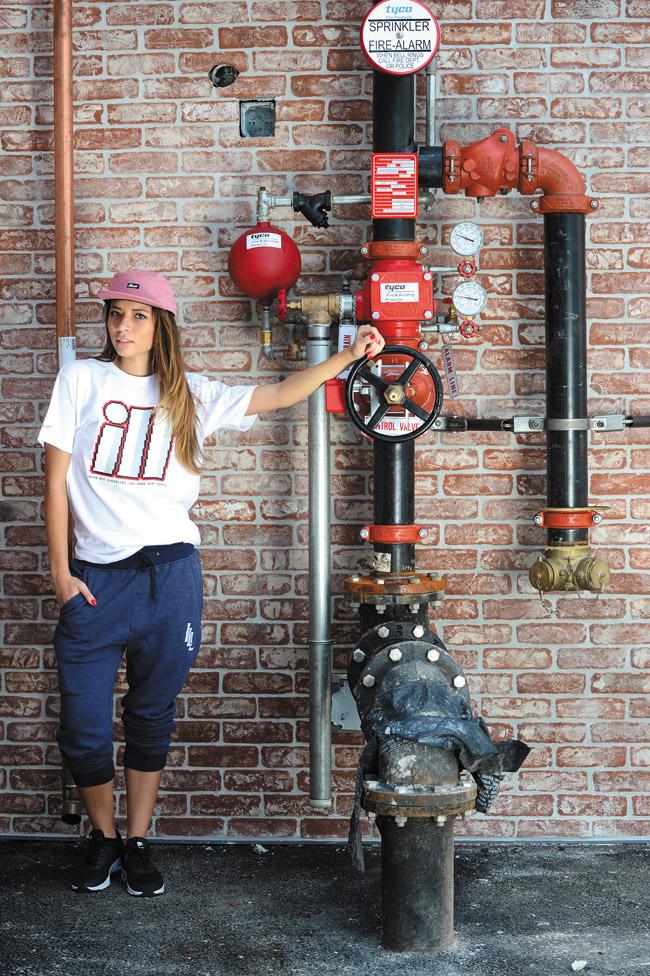 Alyson Kintscher: illest '8 Bit' T-shirt in white $25, illest 'Freedom' five-panel hat in red $30, illest 'BP Sweats' in navy $80