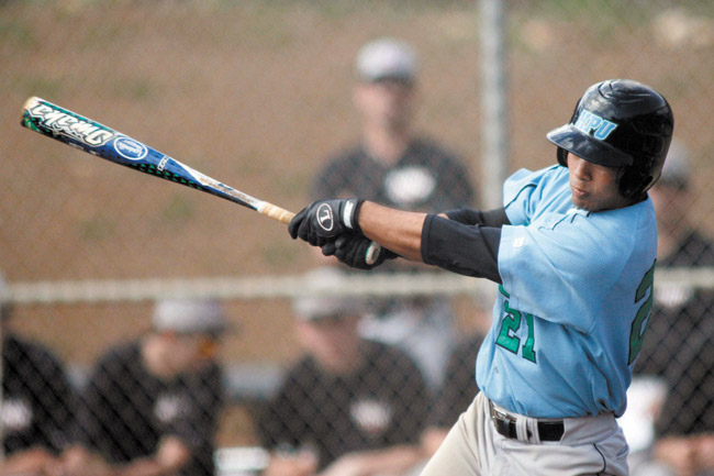 Derek Nakasato hit safely in 34 straight games for Hawaii Pacific University | HPU photo