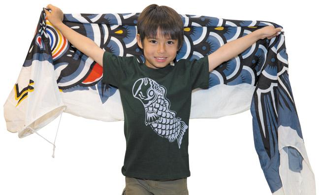 Jace Randall: Cane Haul Road 'Big Koi' T-shirt $13, Koi nobori streamer $138 (2-meter)