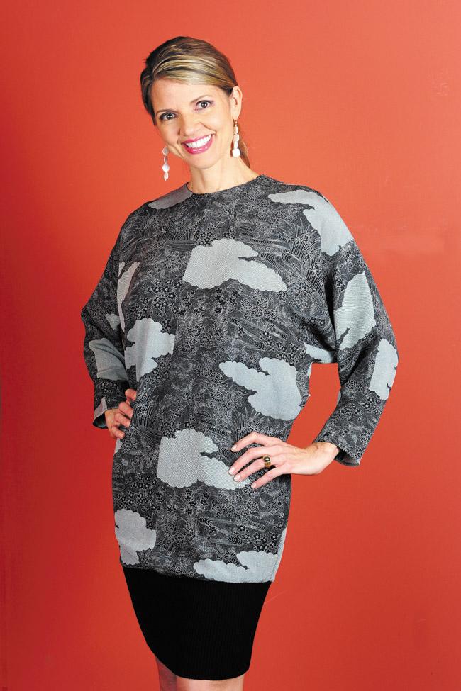 Audra Stevenson: Anne Namba Designs kimono bubble dress $500