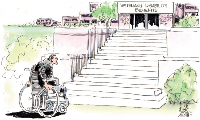 Dick Adair won a Pa'i Award for best editorial cartoon from the Hawaii Publishers Association for this poignant rendering