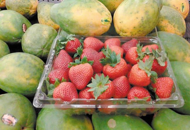 Take advantage of seasonal fresh, sweet strawberries. Diana Helfand photo