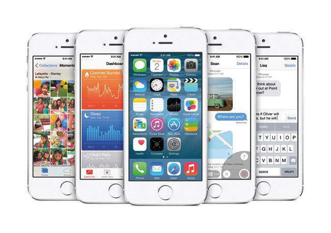 iOS 8 on iPhone 5s | Photos courtesy Apple