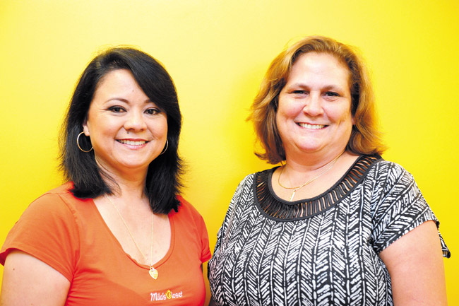 Clarissa Bueno (left) and Peggy Chock