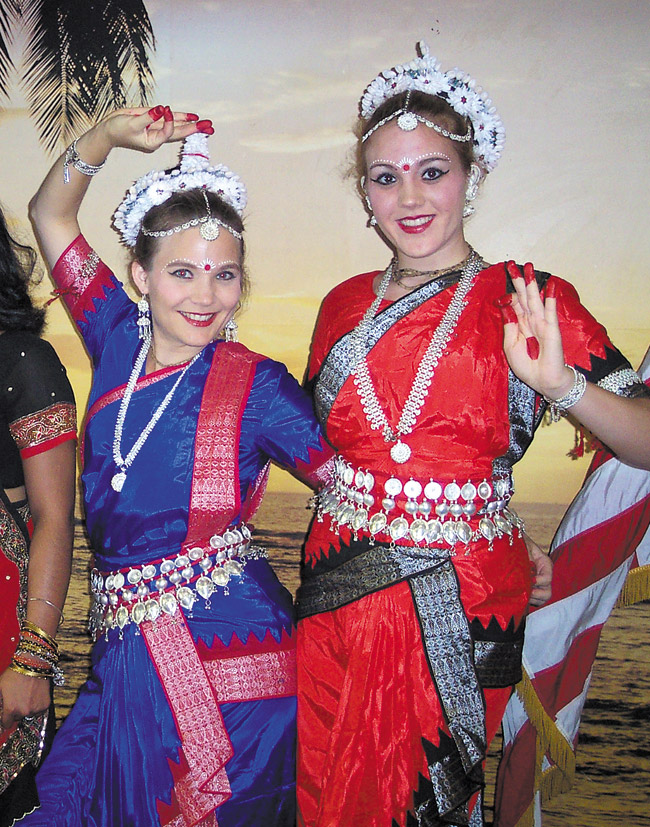 The author with daughter Sridevi at a classical Indian Odissi dance performance, one of her theatrical forays, around the time she joined 'MidWeek.'