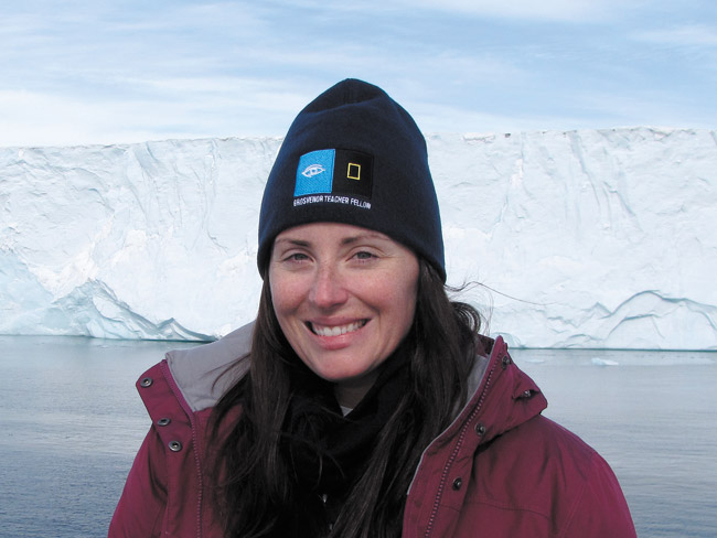 Star of the Sea middle school science teacher Cristina Veresan in the Arctic PHOTO COURTESY ELLEN TAYLOR