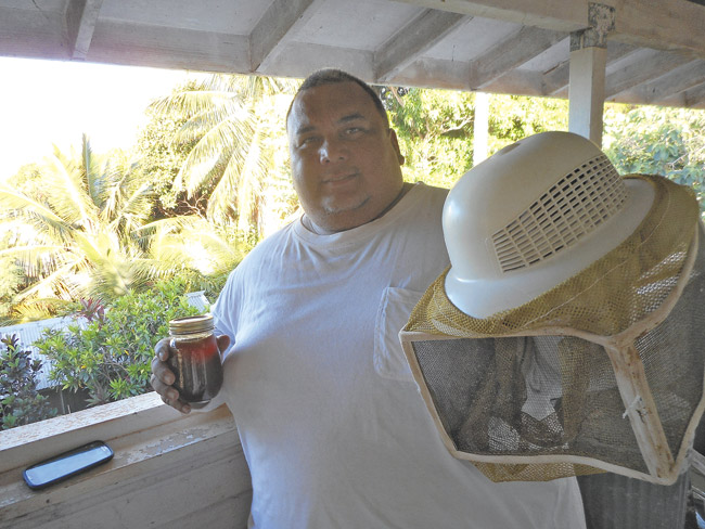 Beekeeper Patrick Coller  PHOTO COURTESY YUKIMU COLLER