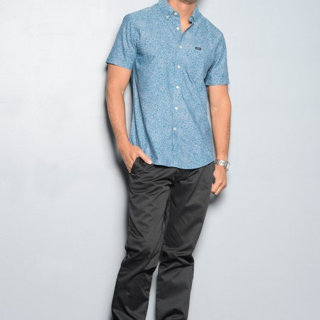 Bobby Cabino: RVCA 'That'll do sax' buttondown shirt $56 and Billabong 'Carter Chino' in black $49.50 from T&C Surf