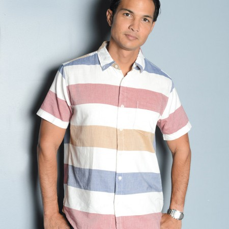 Bobby Cabino: Aeropostale stripe button-down shirt $39.50 and Aeropostale jeans $49.50