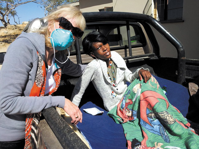 Susan and Nomsa headed to her home PHOTO COURTESY SUSAN PAGE