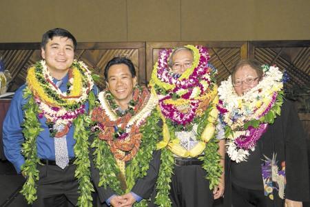 Raymond Fujii, Brian Kang, David Suzuki and Sharon Mahoe
