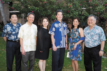 Dr. Francis Buto, Dr. Galen Choy, Jessica Onaga, Dr. Bryan Matsumoto, Dr. Rayeen Busse and Dr. Lloyd Kobayashi.