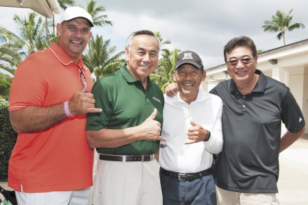 Leo Goeas, Norm Chow, Hugh Yoshida and Deems Narimatsu.